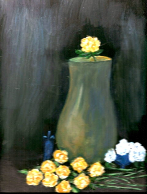 Vase and Yellow Roses by June resized