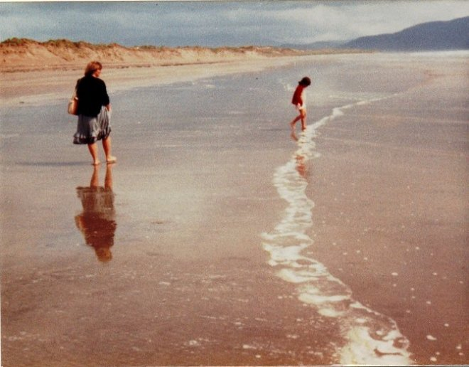 Diane on Dingle Beach 1983