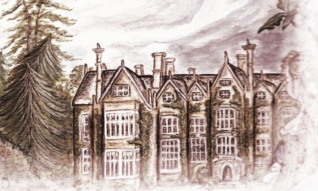 Wroxton Abbey - late 17th century by DM Denton