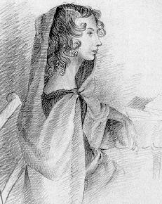 Drawing of Anne Brontë by Charlotte Brontë