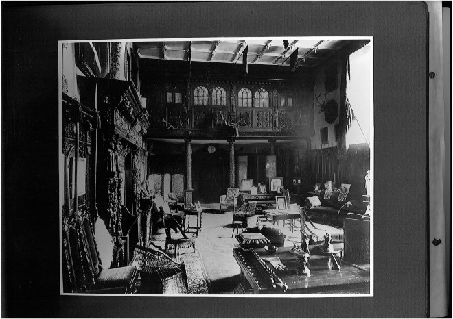 Old Photo Great Hall Wroxton Abbey