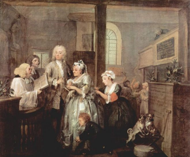 Marriage Image - from William Hogarth's A Rake's Progress