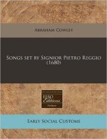 Pietro Reggio song set