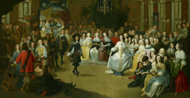CHARLES II DANCING AT A BALL AT COURT, C.1660. HIERONYMUS JANSSENS (1624-93). ROYAL COLLECTION TRUST / © HM QUEEN ELIZABETH II 2013